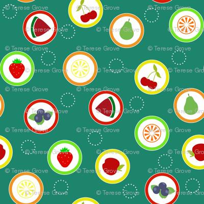 Hard Fruit Candy Green