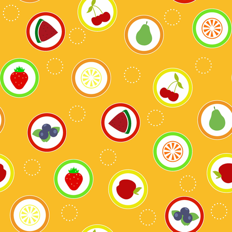 Hard Fruit Candy Orange fabric by designedtoat on Spoonflower - custom fabric