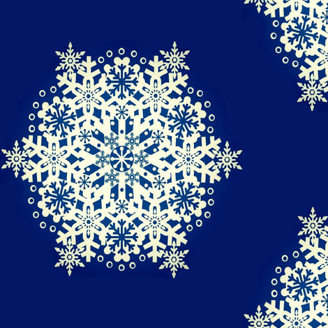 Snowflake Nordic Blue fabric by paragonstudios on Spoonflower - custom fabric