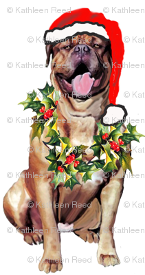 Dogue De Bordeaux Santa