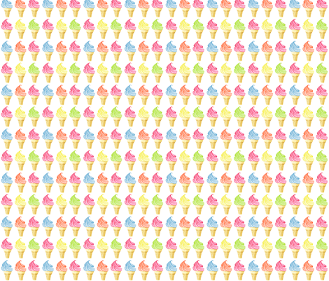 Icecream by youdesignme fabric by youdesignme on Spoonflower - custom fabric