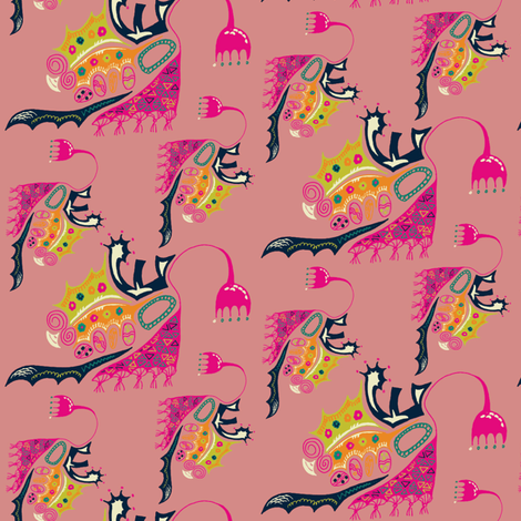 Fairytale Spaceship fabric by ivoryshades on Spoonflower - custom fabric
