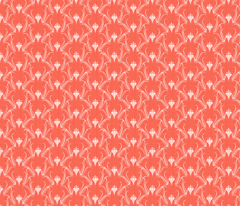 LILIEs coral fabric by glimmericks on Spoonflower - custom fabric