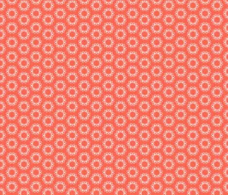 butterflakes_dots_coral fabric by glimmericks on Spoonflower - custom fabric