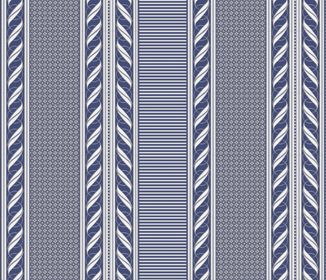 BLUE BORDER fabric by glimmericks on Spoonflower - custom fabric