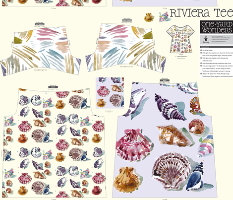 cestlaviv shell print on Riviera TEE pattern fabric by cest_la_viv on Spoonflower - custom fabric