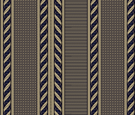 Old Ivory BORDER fabric by glimmericks on Spoonflower - custom fabric