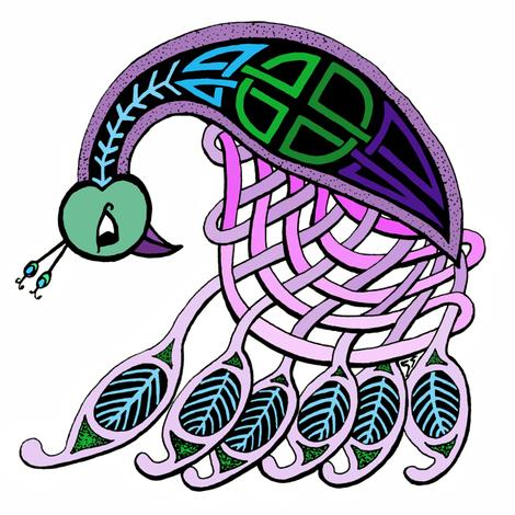 peacock FQ fabric by kalona_creativity on Spoonflower - custom fabric