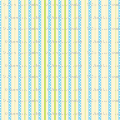 Carousel Ponies - Coordinating Blue Stripe
