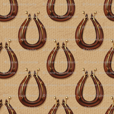 Draft Horse Collar Pattern - Brown