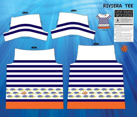 Under the Sea Tee fabric by mariafaithgarcia on Spoonflower - custom fabric