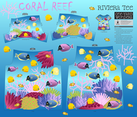 Coral Reef  fabric by kociara on Spoonflower - custom fabric