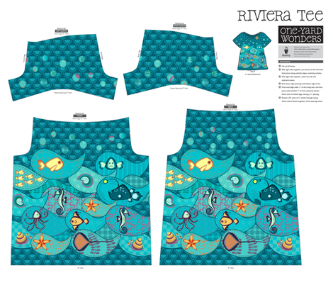 Under the Sea - Riviera Tee fabric by inkpudding on Spoonflower - custom fabric