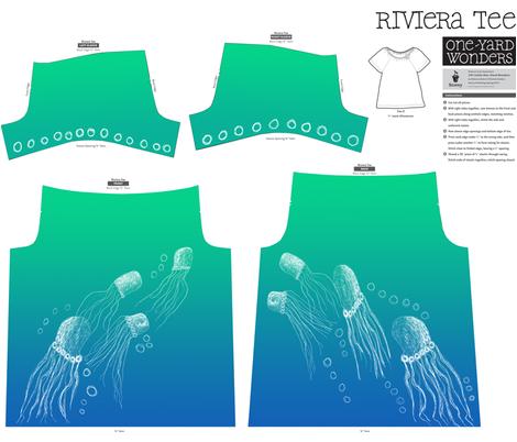 A Jellyfish Ballet ©indigodaze 2012 fabric by indigodaze on Spoonflower - custom fabric