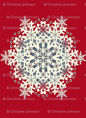 Snowflake Nordic Red