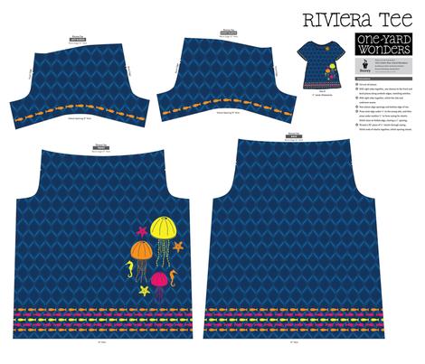 Here, Fishy, Fishy Riviera Tee fabric by robyriker on Spoonflower - custom fabric
