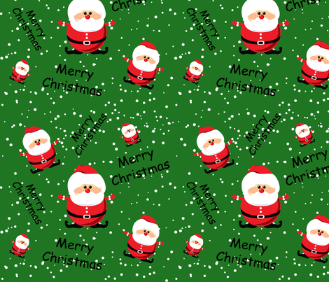 Merry Christmas Santa fabric by lesrubadesigns on Spoonflower - custom fabric