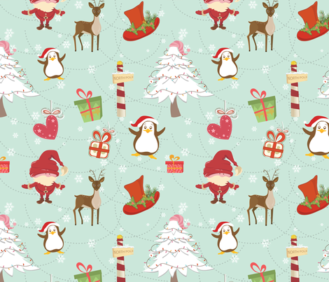 Christmas Icons fabric by lesrubadesigns on Spoonflower - custom fabric