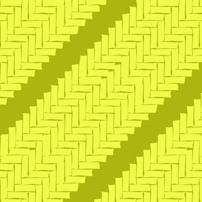diagonal woven herringbone- lime zest