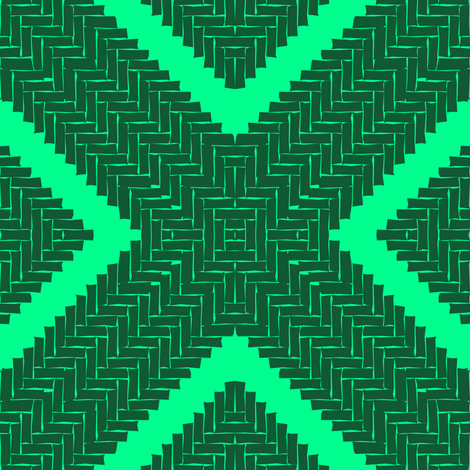 WOVEN HERRINGBONE DIAMOND - emerald fabric by marcador on Spoonflower - custom fabric