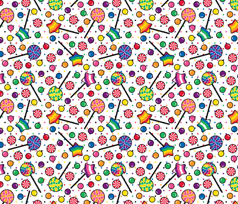 Sugar Rush Dotted fabric by modgeek on Spoonflower - custom fabric