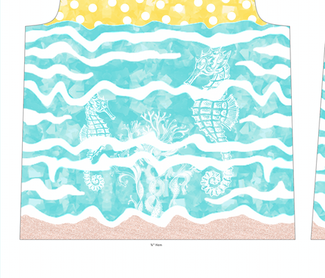 Under The Sunny Sea Tee fabric by miart on Spoonflower - custom fabric