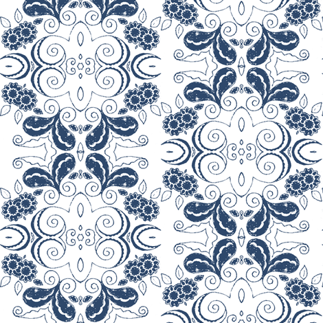 elegance_blue fabric by kerryn on Spoonflower - custom fabric