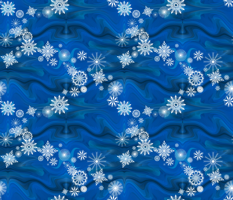 Circling_Snowflakes fabric by art_on_fabric on Spoonflower - custom fabric