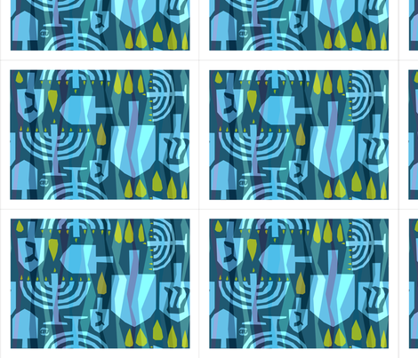 Dreidel Dreidel Placemats fabric by alicia_vance on Spoonflower - custom fabric