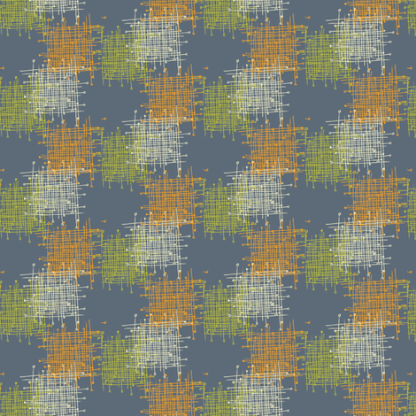 Crosslines_blue fabric by ivoryshades on Spoonflower - custom fabric