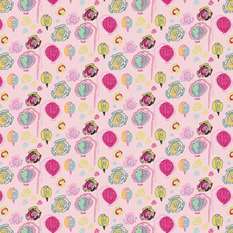 Cute poppy field fabric by ivoryshades on Spoonflower - custom fabric