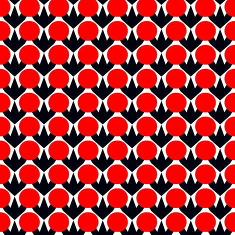 Polanen Red Dots fabric by stoflab on Spoonflower - custom fabric