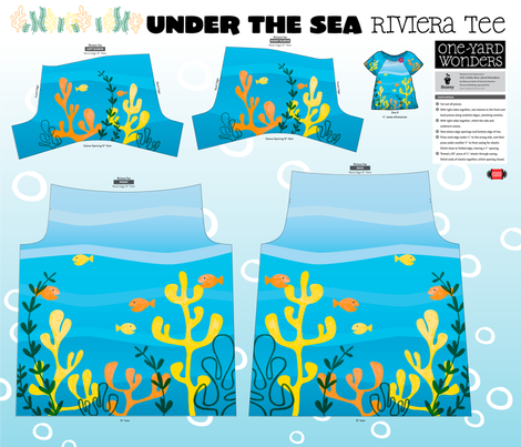 Under the Sea Riviera Tee fabric by pennycandy on Spoonflower - custom fabric