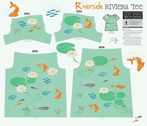Riverside Riviera Tee fabric by creative_merritt on Spoonflower - custom fabric