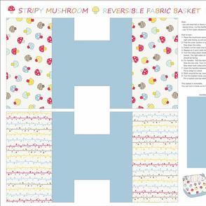 Mushroom fabric basket
