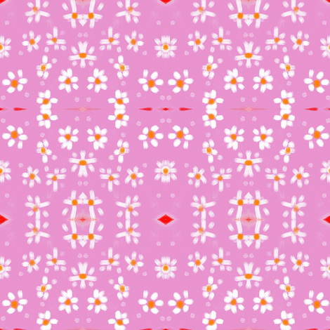 daisy garden fabric by bymarie on Spoonflower - custom fabric