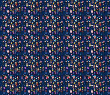 Small Chubby Chibis fabric by cartoonfatshion on Spoonflower - custom fabric