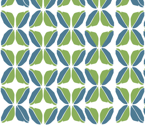 Feather_Leaves_BG fabric by roxanne_lasky on Spoonflower - custom fabric