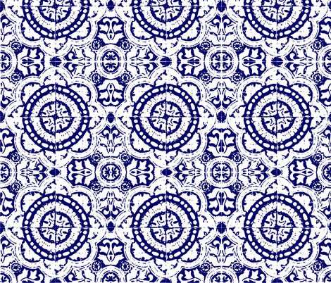 mexican block print fabric by marcador on Spoonflower - custom fabric