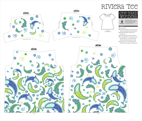 Paisley Fish Riviera Tee fabric by ebygomm on Spoonflower - custom fabric