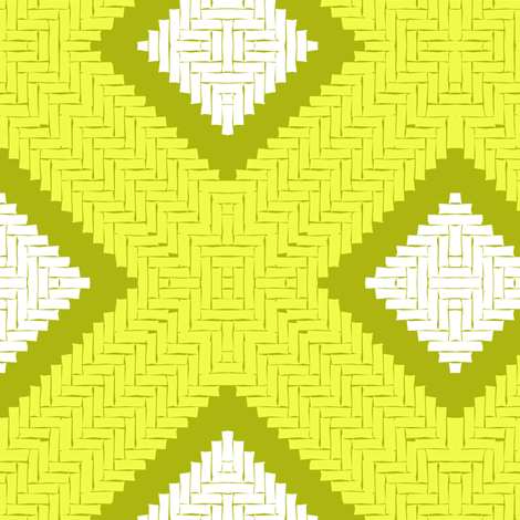 CANASTA - Lime fabric by marcador on Spoonflower - custom fabric