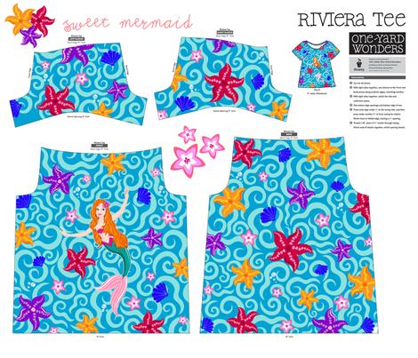 Sweet mermaid fabric by juliagrifol on Spoonflower - custom fabric
