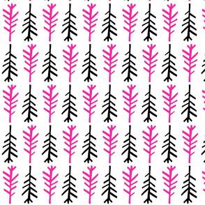 Small twig black pink