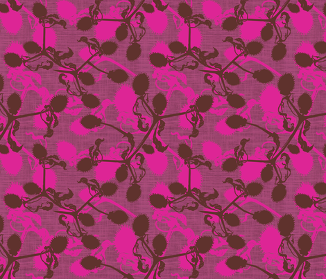 Thistle Mulberry fabric by brainsarepretty on Spoonflower - custom fabric