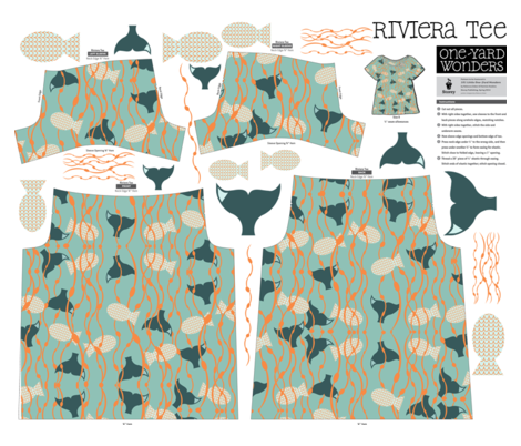 In the Waves One-Yard Wonders Riviera Tee fabric by juliapaigedesigns on Spoonflower - custom fabric