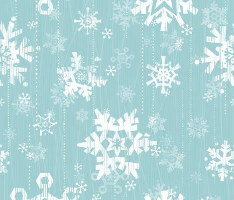 Snow - Blue fabric by friztin on Spoonflower - custom fabric