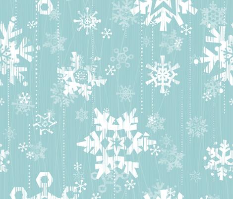 Snow - Blue fabric by friztin on Spoonflower - custom fabric