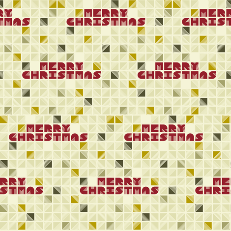 Merry Christmas fabric by candyjoyce on Spoonflower - custom fabric