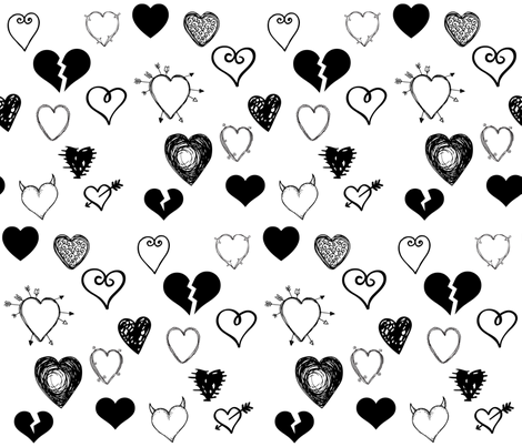 YOUR BREAKIN MY HEART fabric by bluevelvet on Spoonflower - custom fabric