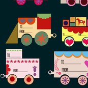 Dala Train: 12 Gift-tags